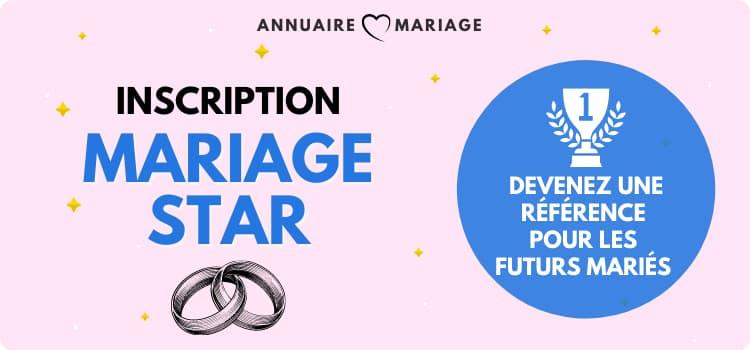 Inscription professionnelle sur annuaire mariage